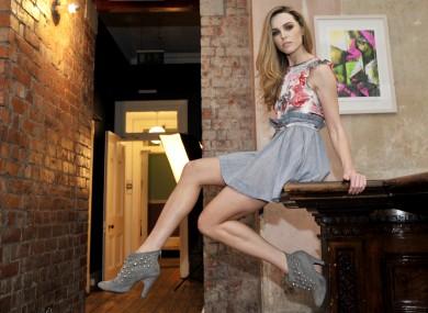 Model Sarah Morrissey on an Awear photoshoot.
