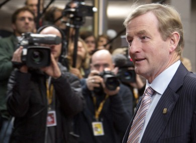 Enda Kenny in Brussels today