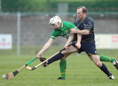 Brendan Maher in action for Ireland in shinty in 2011.