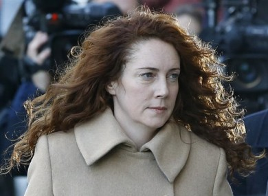 Rebekah Brooks arrives at The Old Bailey today