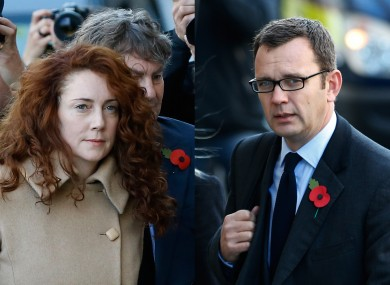 Rebekah Brooks, left, and Andy Coulson, right.