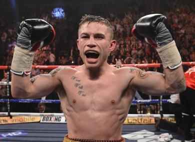 Frampton: stretched his unbeaten record to 17-0.