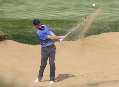 McIlroy in action during the third round of the BMW Masters.