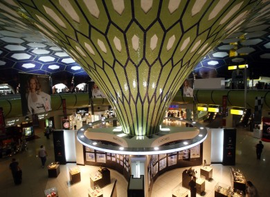 General view of Abu Dhabi International Airport duty free shopping area at the departure gates.