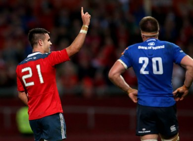 Conor Murray celebrates after guiding Munster to victory over Leinster.