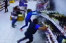 This is what it looks like when your supermarket booze aisle collapses