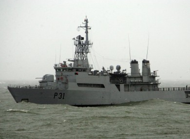 File photo of Naval Service vessel.