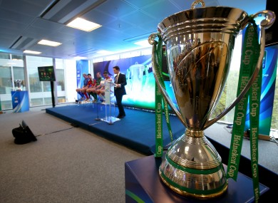 The Irish Heineken Cup launch took place in Dublin early this week.