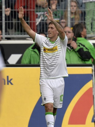 Max Kruse in action for Borussia Moenchengladbach.