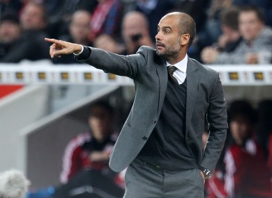 Bayern Munich head coach Pep Guardiola.