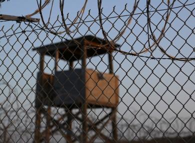 The abandoned guard tower at Camp X-Ray, Naval Station Guantanamo Bay, Cuba