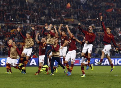 Roma: Borriello's goal extended their winning start to 10 games.