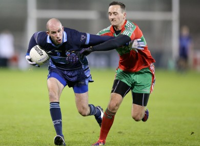 Ballymun Kickhams Kevin Leahy (right)