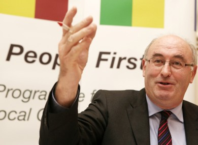 Phil Hogan launching the government's local government reform plans yesterday