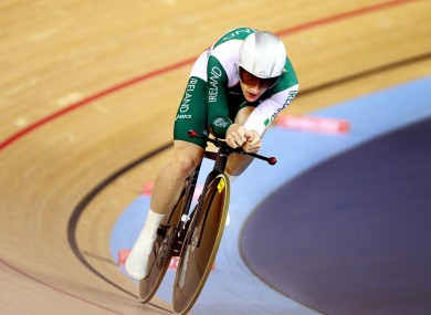 Ireland's Martyn Irvine came third at the Track Cycling European Championship today (file photo).