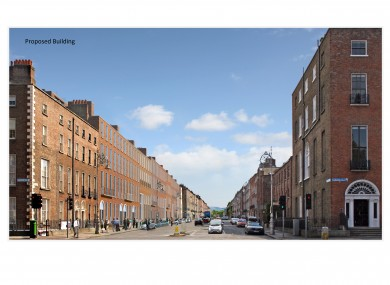 This is how Mount Street will look when the new building is finished.