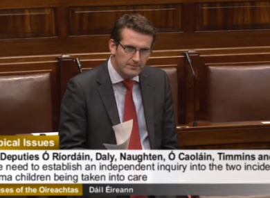 Aodáhin Ó'Ríordán in the Dail today.