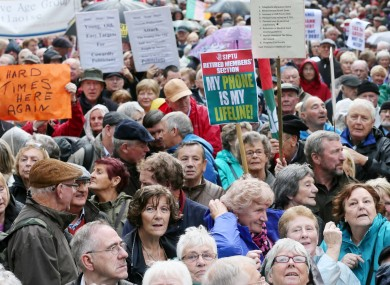 Protestors outside Leinster House this week