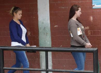 Mellissa Reid, left, and Michaella McCollum Connolloy arriving at court yesterday.