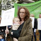 Catherine McGowan and her daughter Sophie (aged 1) from Drogheda.<span class=