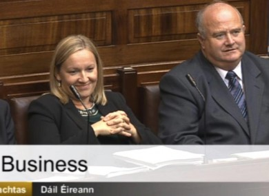 Left to right: Terence Flanagan, Lucinda Creighton and Billy Timmins