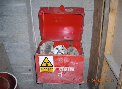 Photo of radioactive material that was stolen.
