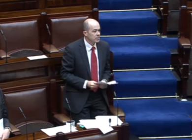 Denis Naughten speaking in his private members' bill in the Dáil this morning.