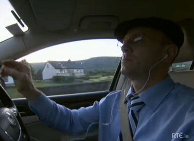 Michael Healy-Rae out on the road