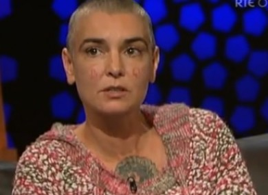 Sinéad O'Connor on The Late Late Show this weekend.