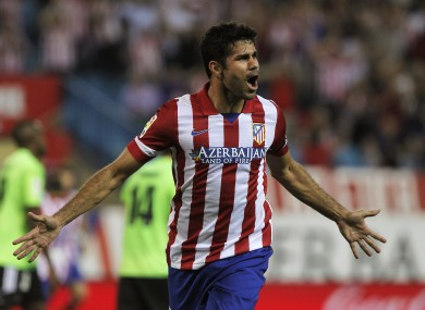 Costa has been in fine form for Atletico Madrid this season.
