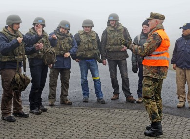 Inspectors of the OPCW at a training session