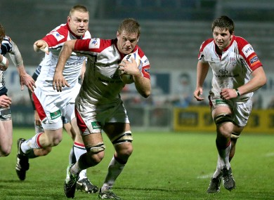 Henry (centre) will be staying with Ulster for three more years.
