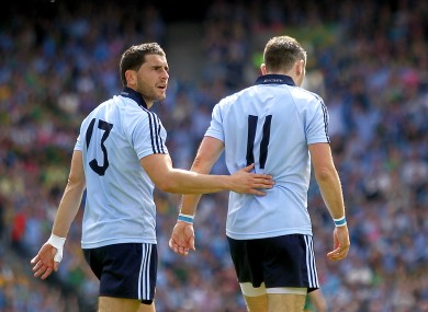 Bernard Brogan with brother Alan.
