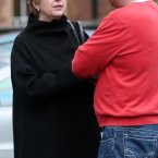 Former Preisdent Mary McAleese pictured at Clonard Monastery.<span class=