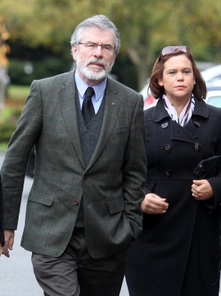 Gerry Adams and Mary Lou McDonald earlier this week