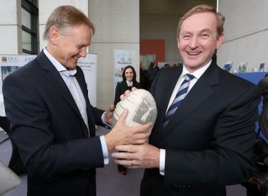 Ireland rugby boss Joe Schmidt with Taoiseach Enda Kenny