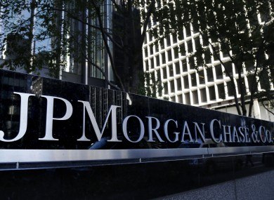 The JPMorgan Chase & Co. logo at their headquarters in New York