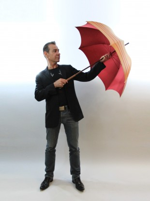Michel Heurtault and his 'Proust' umbrella.