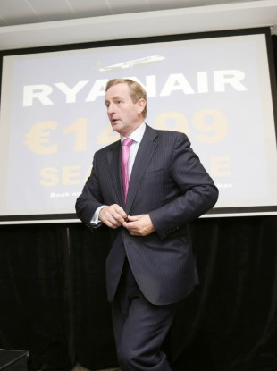 Will Enda be taking a one-way Ryanair flight to Brussels next year?