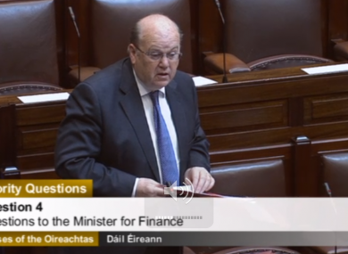 Michael Noonan in the Dáil this morning