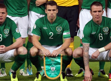 Seamus Coleman was named as captain against Germany.