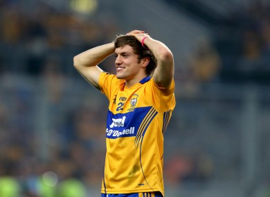 Clare's Man of the Match Shane O'Donnell takes a break from the All-Ireland celebrations.
