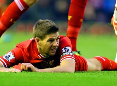Liverpool's Steven Gerrard.