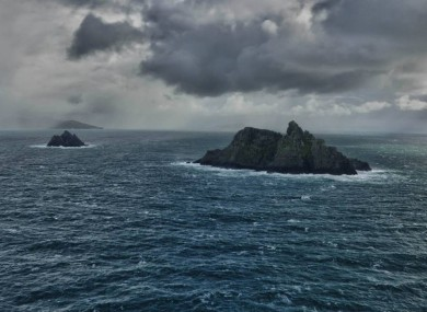 Skellig Islands photographed by one of the Irish Air Corps crew as they few overhead.