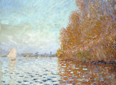 The Monet painting that was damaged.