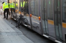 Cyclist taken to hospital after being hit by Luas near Heuston Station