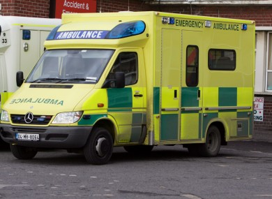 File image of a HSE ambulance.