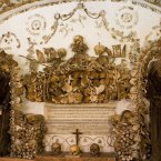 Head under a Roman church to the Capuchin Crypt, perhaps the creepiest attraction in all of Italy. Located beneath a 400-year-old church, it contains the skeletal remains of 3,700 bodies with bones nailed into the walls in intricate patterns.<span class=