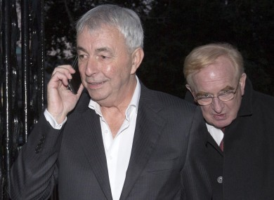 Former CRC CEO Paul Kiely followed by Chairman James Nugent leave Leinster House this evening.