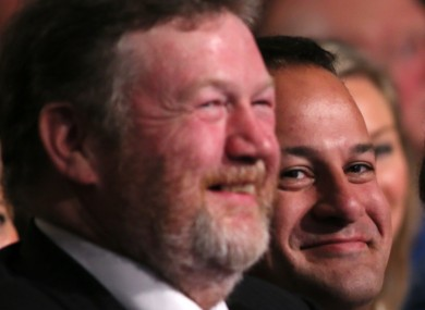Health Minister James Reilly and Varadkar at the Fine Gael conference in Limerick last October.